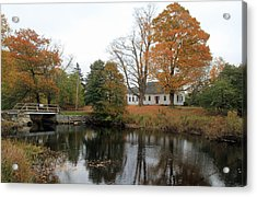 Maine Farmhouse Acrylic Print by Becca Brann