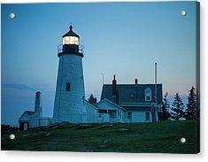Maine, Pemaquid Point, Pemaquid Point Acrylic Print by Walter Bibikow