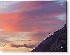 Makapuu Lighthouse 3 Acrylic Print by Leigh Anne Meeks
