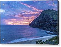 Makapuu Sunrise 2 Acrylic Print by Leigh Anne Meeks