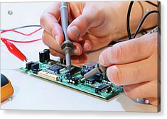 Making An Electronic Micro Processor Acrylic Print by Wladimir Bulgar