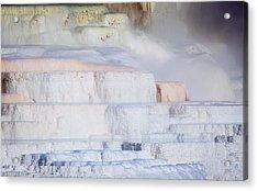 Mammoth Terraces Acrylic Print