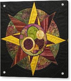 Mandala No 4 Compass Rose Acrylic Print by Lynda K Boardman