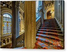Mansion Stairway Acrylic Print by Adrian Evans