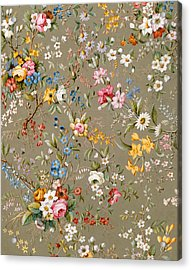 Marble End Paper Acrylic Print