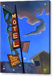 Acrylic Print featuring the painting Marco Polo Motel by Sally Banfill