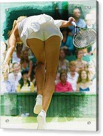 Maria Sharapova -  Wimbledon Championships Acrylic Print by Don Kuing