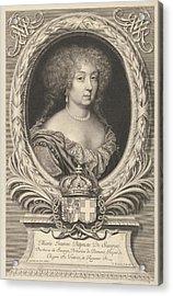 Marie Jeanne Baptiste De Savoie-nemours Acrylic Print by Robert Nanteuil