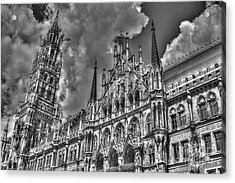 Marienplatz In Munich Acrylic Print by Joe  Ng