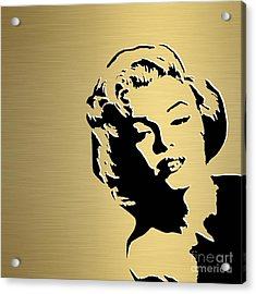 Marilyn Monroe Gold Series Acrylic Print by Marvin Blaine