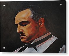 Acrylic Print featuring the painting Marlon Brando The Godfather by David Dunne