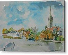 Marlow On Thames Acrylic Print