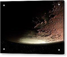 Mars Impact Basin Acrylic Print
