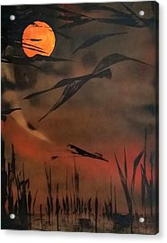 Marsh Birds Acrylic Print