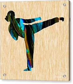 Martial Arts Karate Acrylic Print by Marvin Blaine