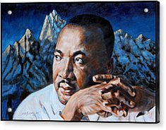 Martin Luther King Acrylic Print by John Lautermilch