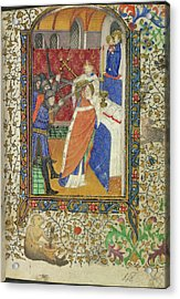 Martyrdom Of Thomas Becket Acrylic Print by British Library