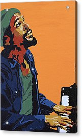 Acrylic Print featuring the painting Marvin Gaye by Rachel Natalie Rawlins