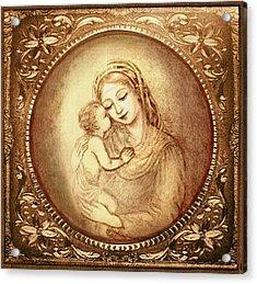 Mary And Jesus Acrylic Print
