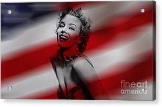 Marylin Monroe Acrylic Print by Marvin Blaine