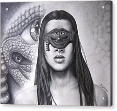 Masked Beauty Acrylic Print