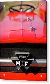 Massey Ferguson 135 Vintage Tractor Acrylic Print by Paul Lilley