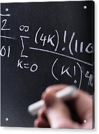 Mathematical Equation Acrylic Print by Tek Image