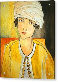Matisse's Lorette With Turban And Yellow Jacket Acrylic Print