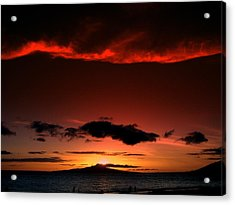 Acrylic Print featuring the photograph Maui Sunset by Ron Roberts