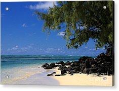 Mauritius Blue Sea Acrylic Print by IB Photography