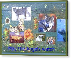 May The Angels Watch Acrylic Print