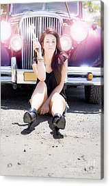 Mechanic Fixing Car Acrylic Print by Jorgo Photography - Wall Art Gallery