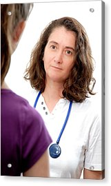 Medical Consultation With Teenage Girl Acrylic Print by Aj Photo