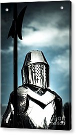 Medieval Knight Holding Weapon Acrylic Print