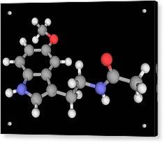 Melatonin Molecule Acrylic Print by Laguna Design/science Photo Library