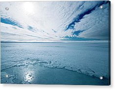 Melting Arctic Sea Ice Acrylic Print by Louise Murray/science Photo Library