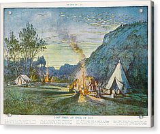 Members Of A Camping Club,  Having Acrylic Print by  Illustrated London News Ltd/Mar