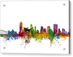 Memphis Tennessee Skyline Acrylic Print by Michael Tompsett