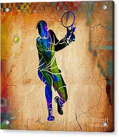 Mens Tennis Acrylic Print by Marvin Blaine