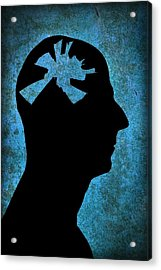 Mental Health Issues Acrylic Print by Victor De Schwanberg