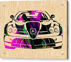 Mercedes Benz Painting Acrylic Print by Marvin Blaine