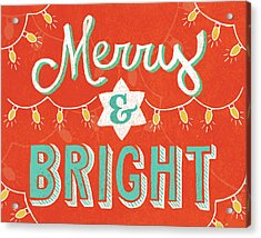 Merry And Bright Acrylic Print by Mary Urban