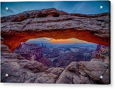 Mesa Arch Morning Acrylic Print by David Cote