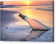 Message In A Bottle Acrylic Print by JC Findley