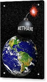 Methane Bomb Acrylic Print by Victor De Schwanberg