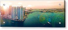 1 Miami Acrylic Print by Michael Guirguis