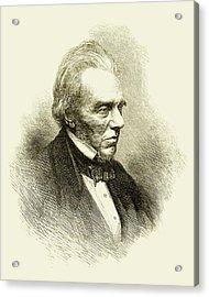 Michael Faraday Acrylic Print by Maria Platt-evans