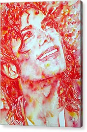 Michael Jackson - Watercolor Portrait.2 Acrylic Print