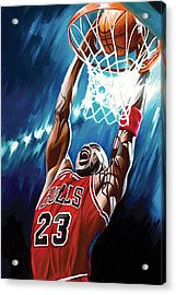 Michael Jordan Artwork Acrylic Print by Sheraz A