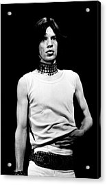 Mick Jagger 1968 Acrylic Print by Chris Walter